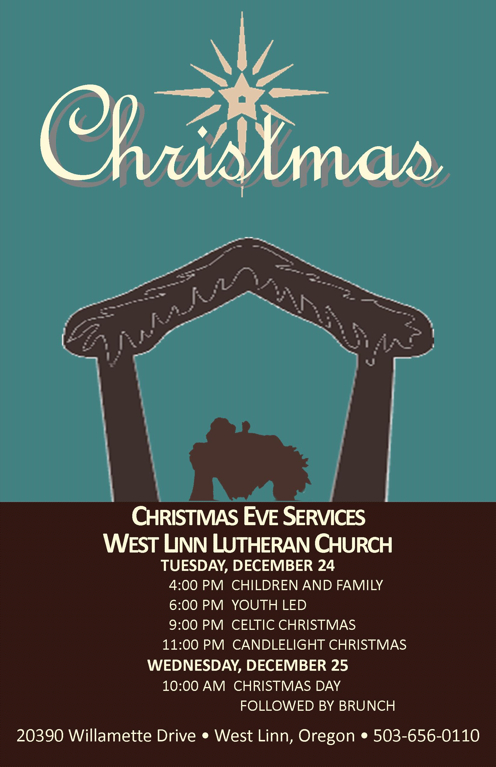West Linn Lutheran Church Christmas Services! Come Join Us! | West ...